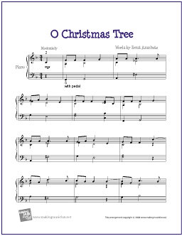 Christmas Tree (Peanuts) | Free Sheet Music for Easy Piano | Flickr ...