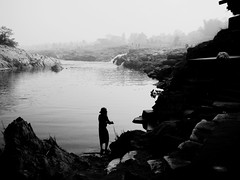Morning prayer at Damodar river, Rajarappa | by asis k. chatt