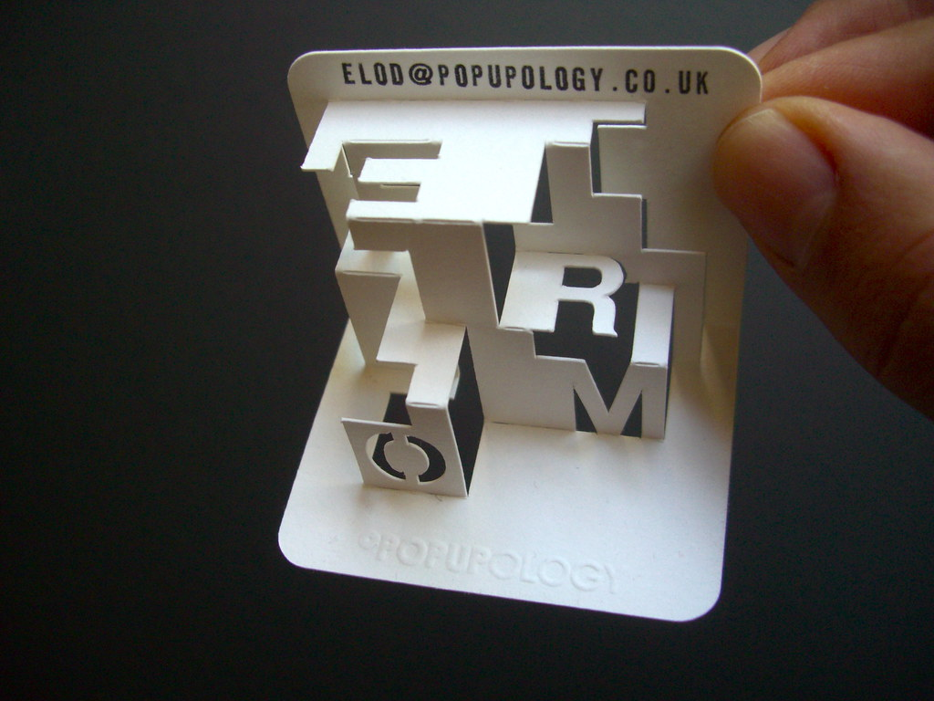 3-d business card series VIV - form | space lettering - play… | Flickr