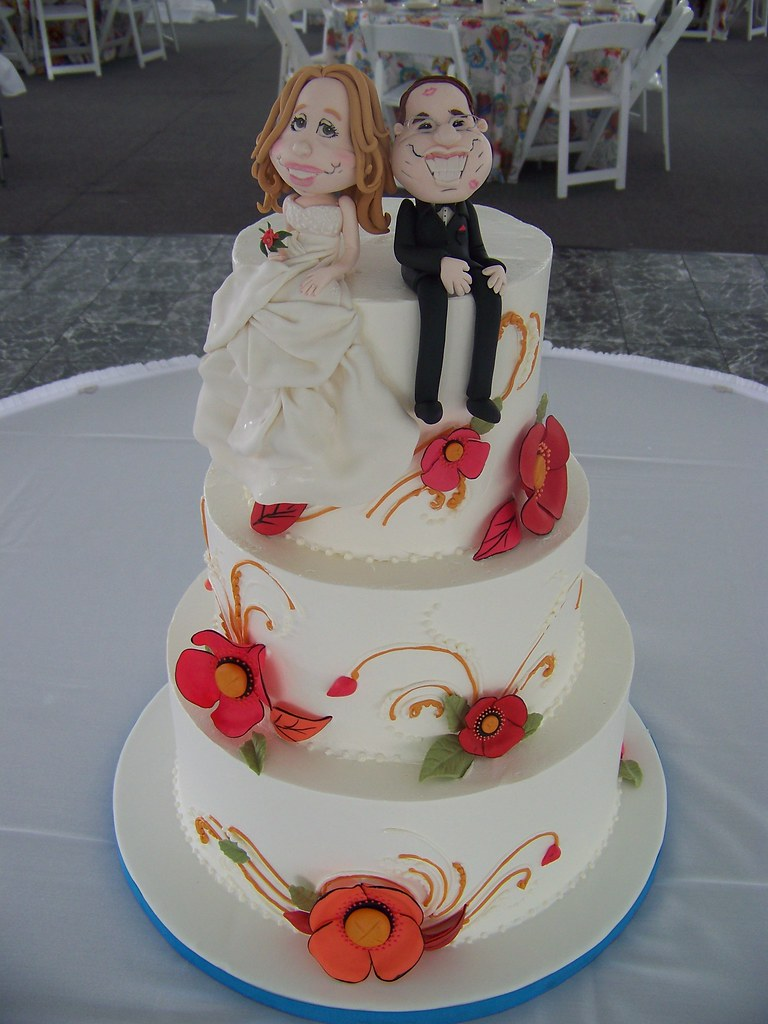 Caricature Wedding Cake Bride And Groom Wanted To Be Repli Flickr