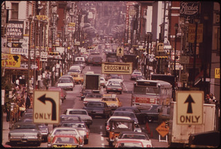 Looking North Along Vine Street from the Overhead Walkway at Fountain Square 08/1973 | by The U.S. National Archives