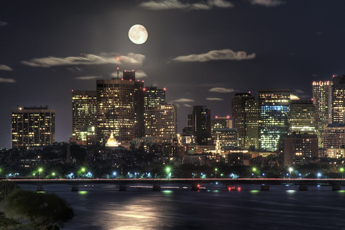 Moon over Boston | by Werner Kunz
