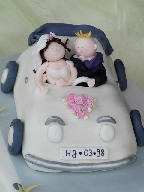 Hochzeitstorte Brautpaar Im Cabrio 1 Www Suess Und Salzig Flickr