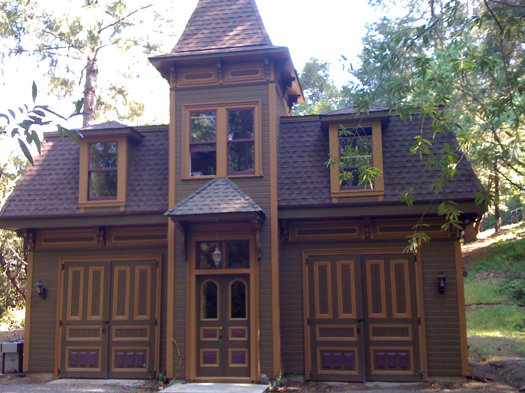 Second empire carriage house i built this from salvage for Carriage house flooring