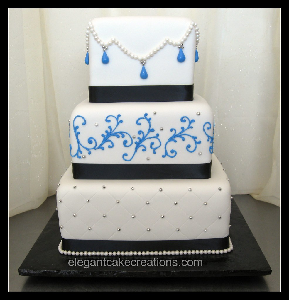 blue and black wedding cake opposite of the black and blue flickr. Black Bedroom Furniture Sets. Home Design Ideas