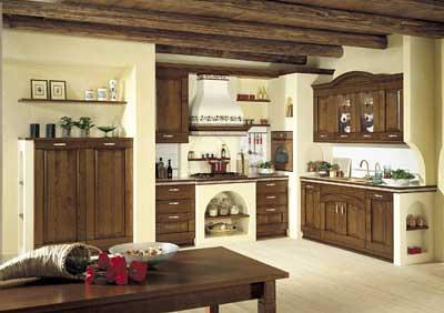 Cucina ad angolo in muratura  Fotografia di una cucina con …  Flickr