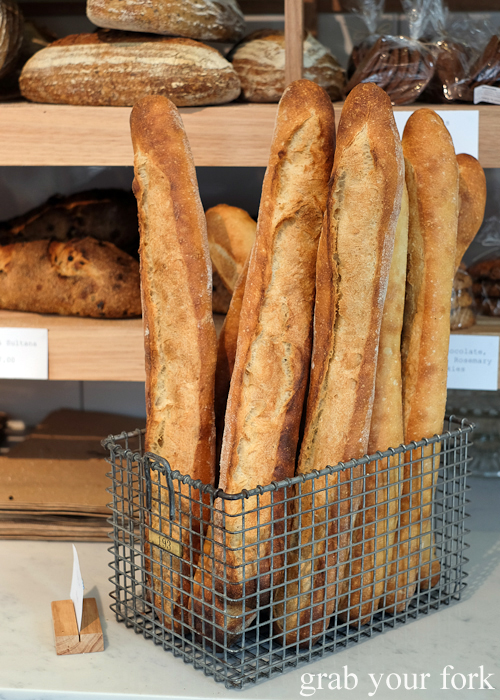 Ficelle bread at Pigeon Whole Bakers in Hobart Tasmania
