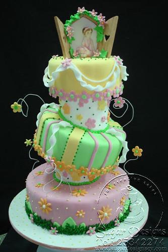 Topsy turvy cake daisies and ballarina flickr photo sharing