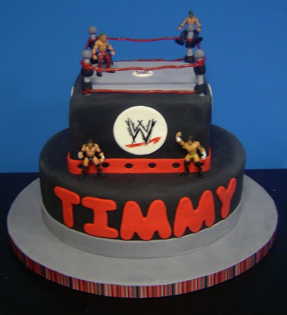 Wrestling Birthday Cake This Cake Was For A Little