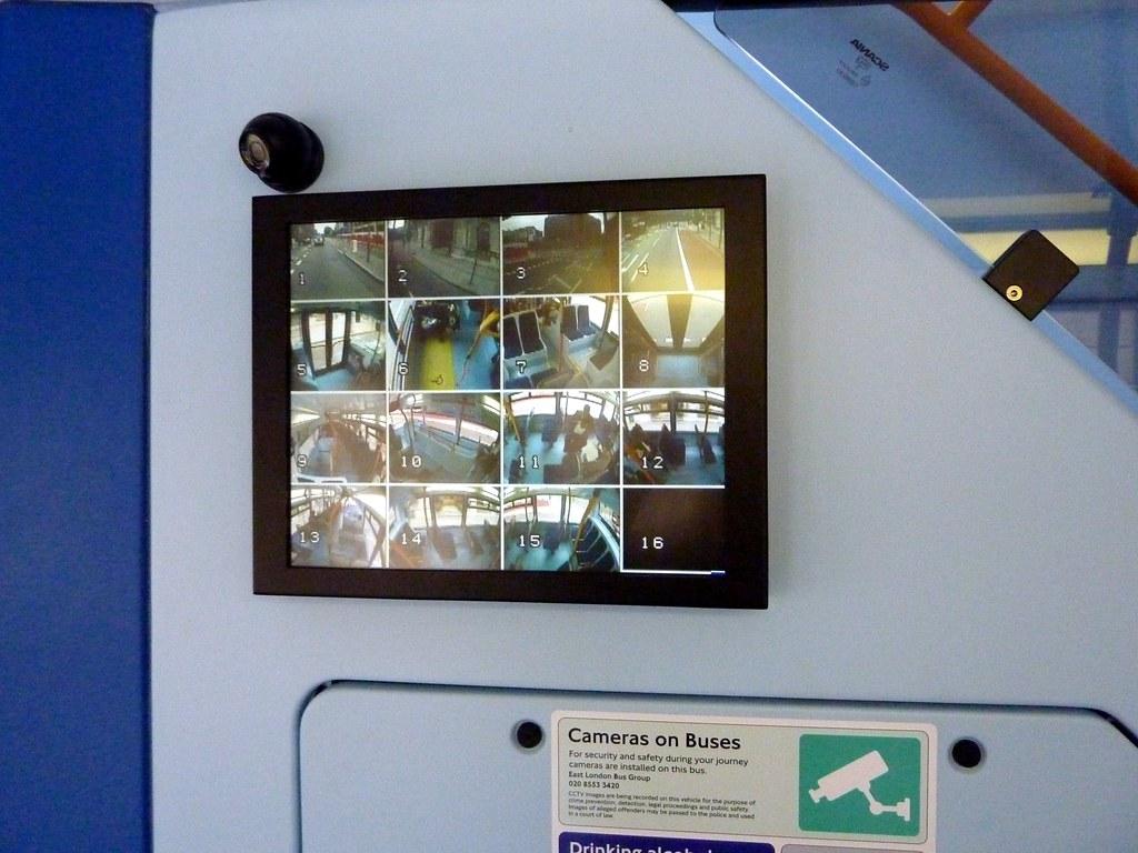 SIXTEEN cameras on the new London bus, 205, Islington, Lon ...