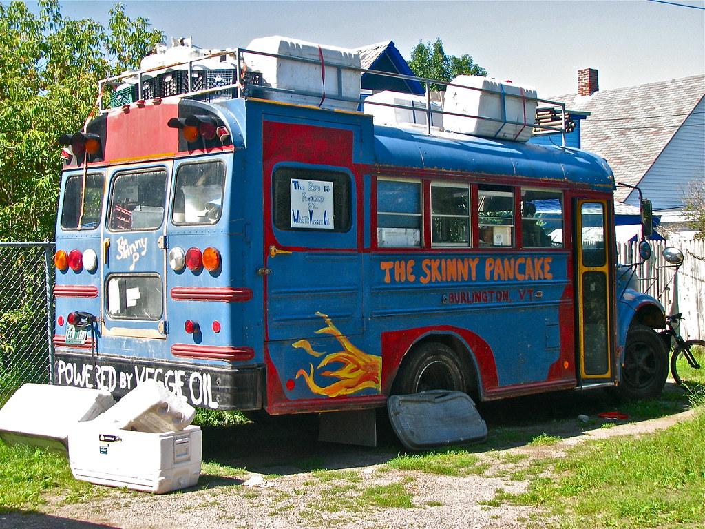 Skinny Pancake Skoolie Burlington Vermont Usa A