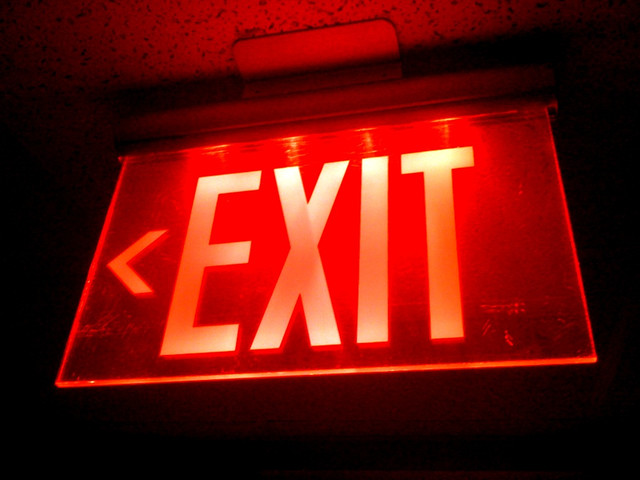 Red Exit SignRed Exit Sign