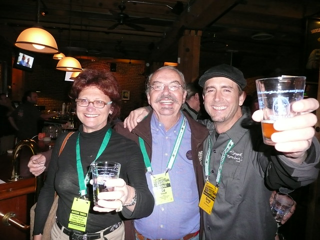 Carol & Ed Stoudt with Greg Koch (GK) @ Wynkoop