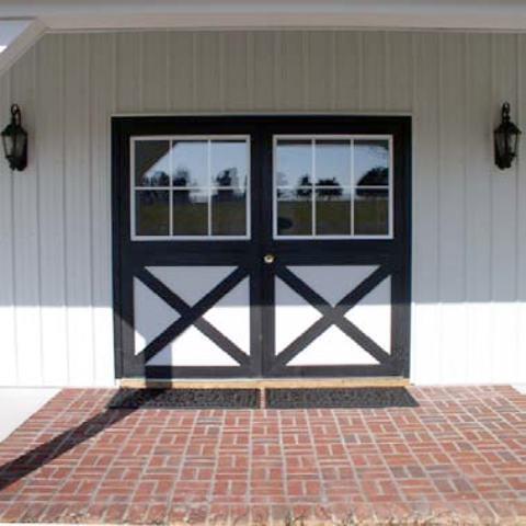 hinged barn doors with windows | hinged barn doors with