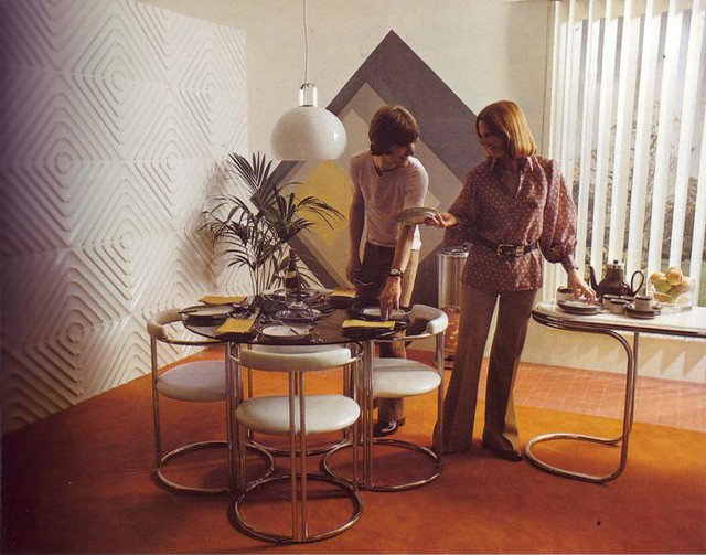 70s interior scanned from a 1979s interior deign book for Decoration maison annee 70