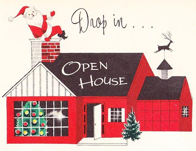 Christmas Open House Invite 1950s | Come through the door ...