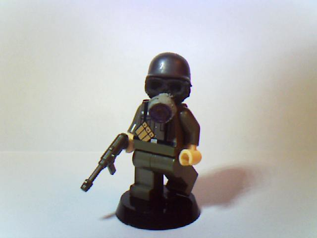 lego german soldier with custom gas mask | Lewis Beck | Flickr