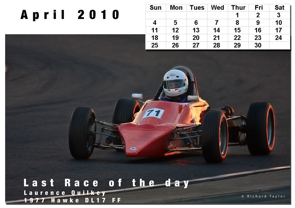 Racing Calendar April : Motor racing calendar april these are for a non