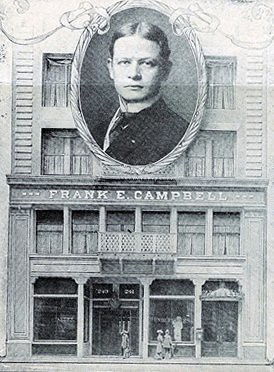 Frank E Campbell Superimposed Over His Funeral Church Bui