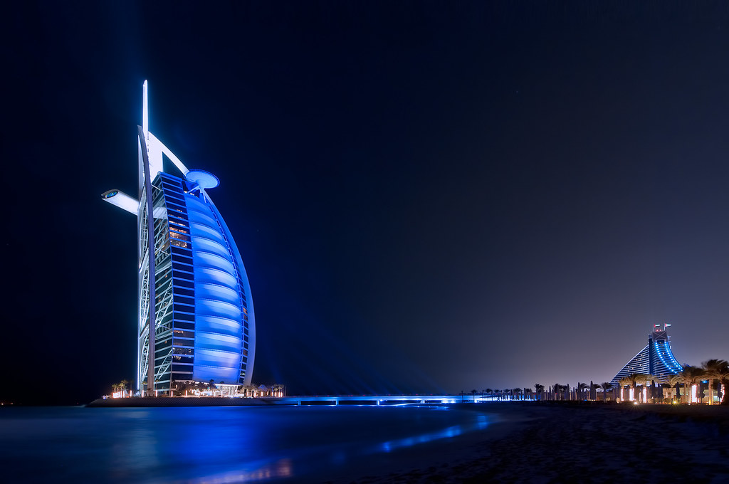 Image result for burj al arab dubai at night