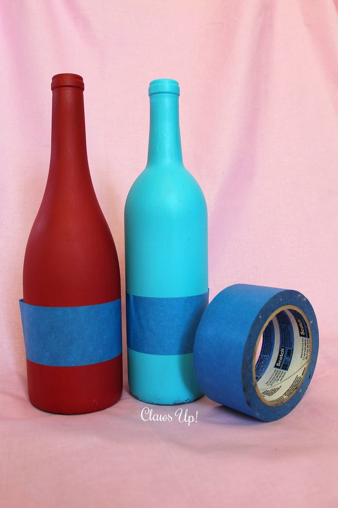 Wedding Crafts: Painted Wine Bottles