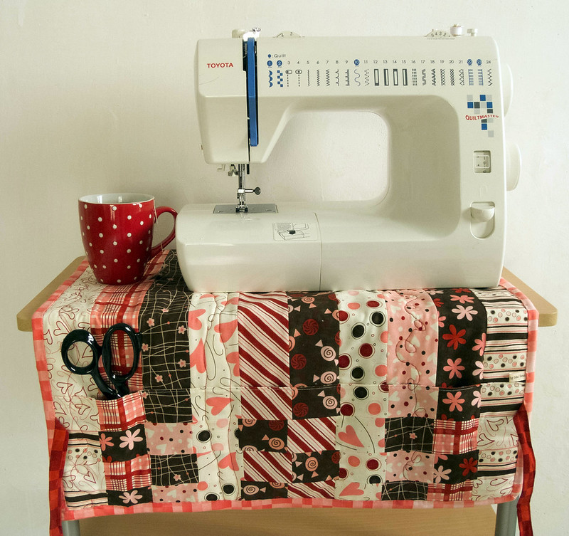 Sewing Machine Cover #4 double-sided, as mat