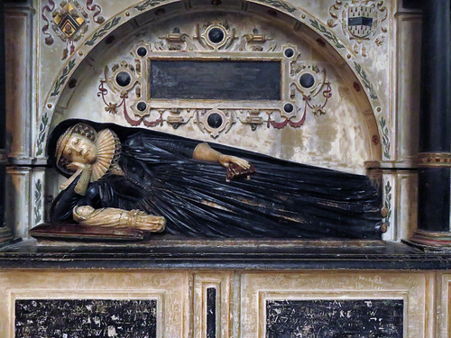 A tomb of a woman at England's Gloucester Cathedral