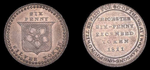 James Rawson & Son, 'Morgan's' Sixpence, 1811