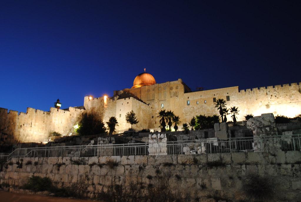 Al Aqsa Mosque Al Quds Al Aqsa Mosque At Night Slight