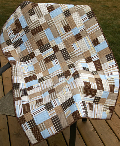 Baby Boy Quilt This Quilt Was Made From Men S Dress