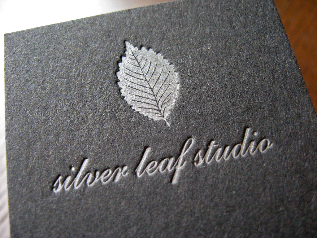 Silver Leaf Studio - Letterpress Logo | Client: Lynn Biddle … | Flickr