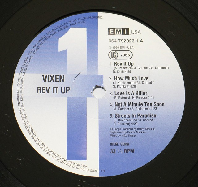 "VIXEN REV IT UP USA EXPORT 12"" vinyl LP"