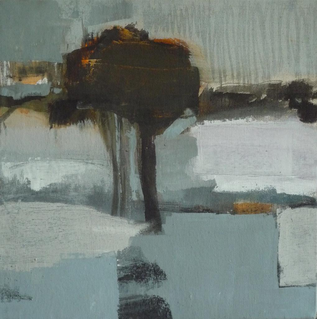 paysage avec arbre acrylique sur toile olivier rouault flickr. Black Bedroom Furniture Sets. Home Design Ideas