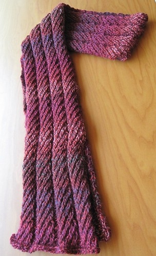 Reversible Herringbone Rib Scarf | by cctcty123