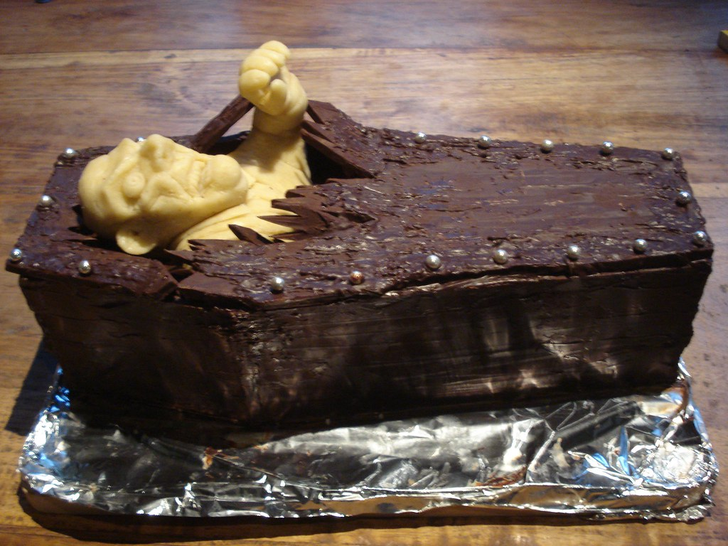 Marzipan Zombie Chocolate Coffin Birthday Cake 3 I Graduat Flickr