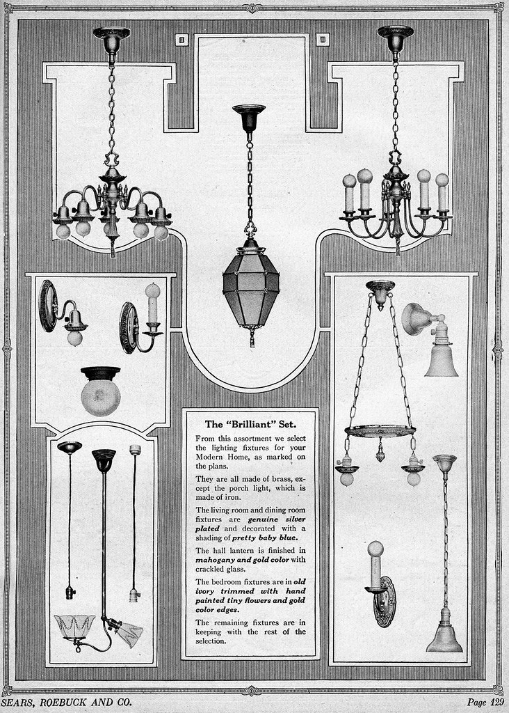 1920s lighting fixtures 1923 sears catalog light fixtures flickr