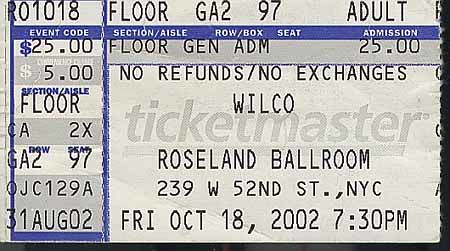wilco-2002-10-18-ticket | by wilcobase