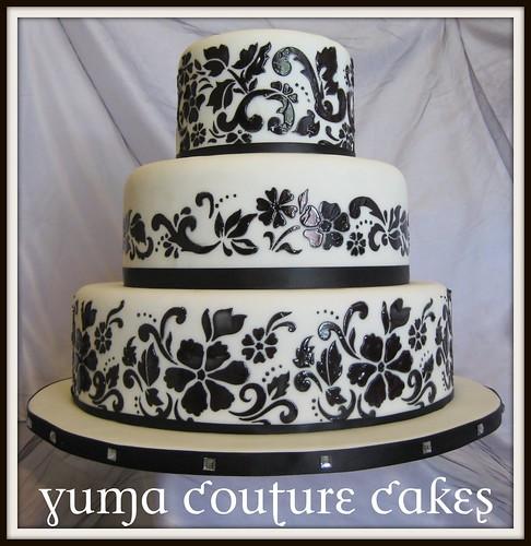 Yuma Arizona Damask Wedding Cake