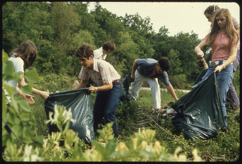 Young People Filling Bags with Litter, 05/1972 | by The U.S. National Archives