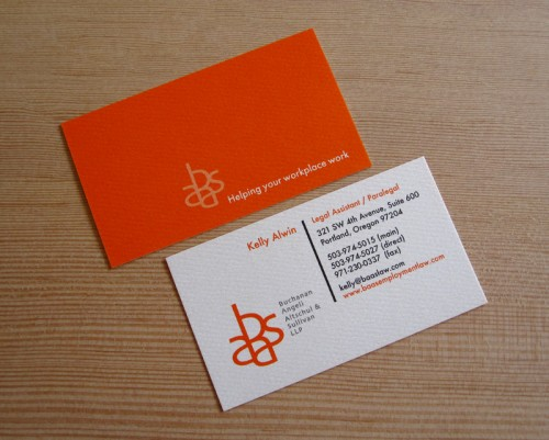 Business card for baas attorneys bright orange soy ink pri flickr business card for baas attorneys by print pinball reheart Choice Image
