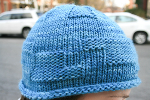 Dulles hat in Malabrigo 'Bobby Blue' | by add_knitter