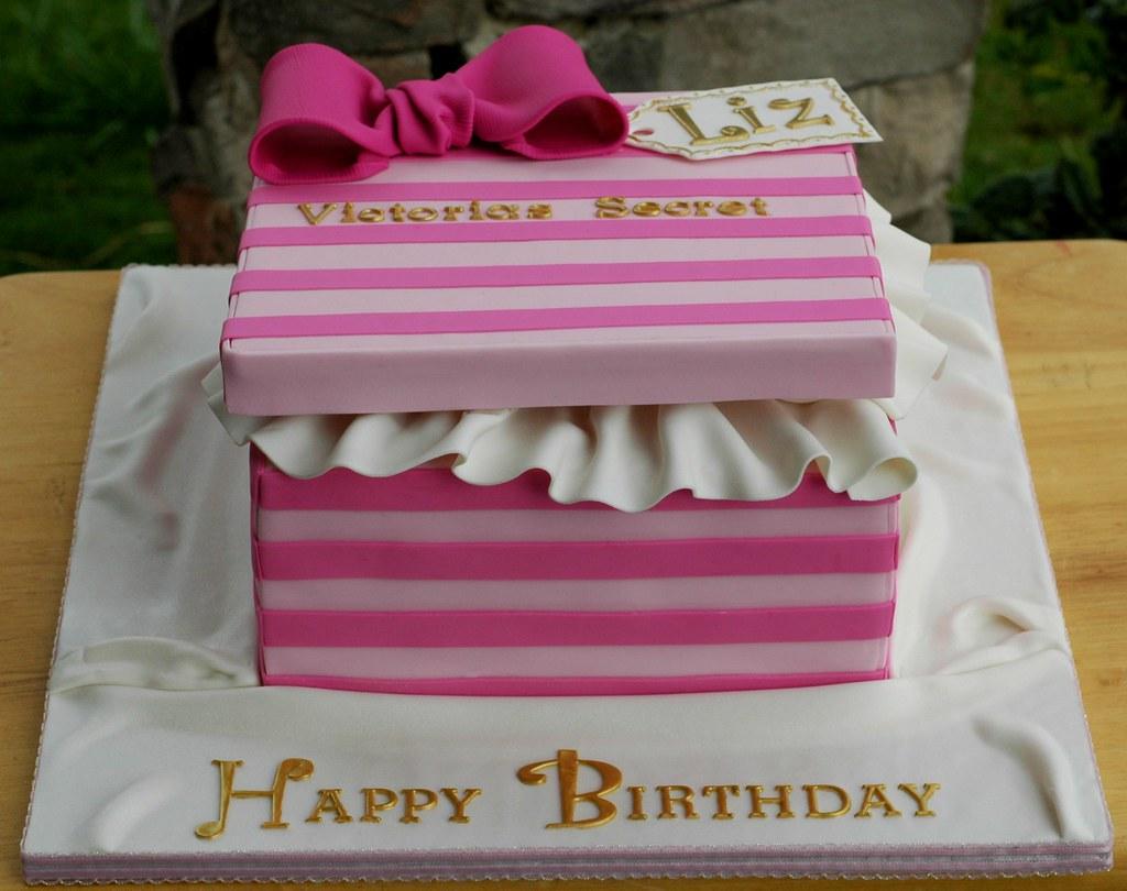 Victorias secret gift box cake first cake of an insanely flickr victorias secret gift box cake by christinas dessertery negle Images