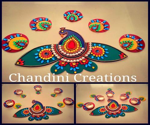 Chandhini creations peacock kundan work