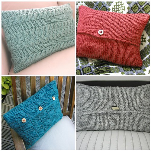 Envelope Style Cushion Covers Hand Knitted Things Designs Flickr Enchanting Envelope Style Pillow Cover