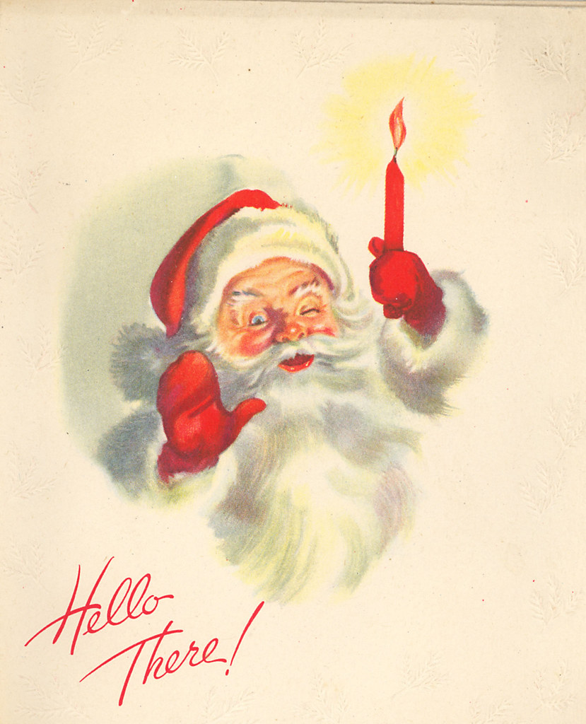 Hi Santa | Vintage cards I purchased on Ebay a few years ...