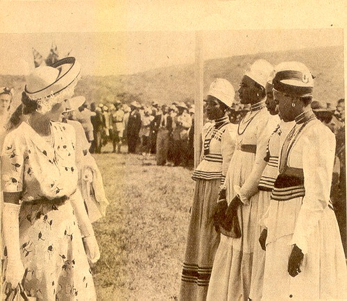Bechuanaland Royal Visit South Africa 1947 Herero