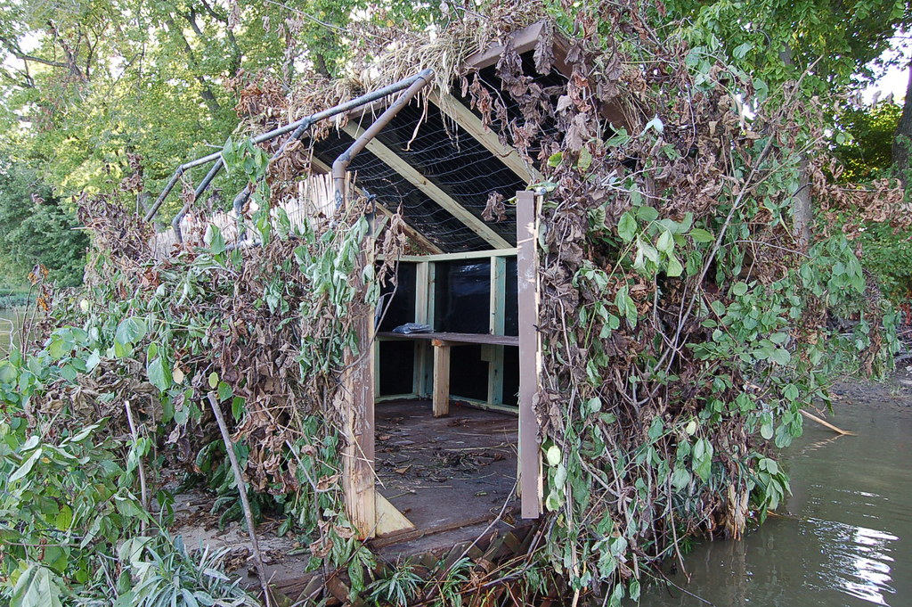 Homemade Hunting Blind Made Without Plans Just Imaginati