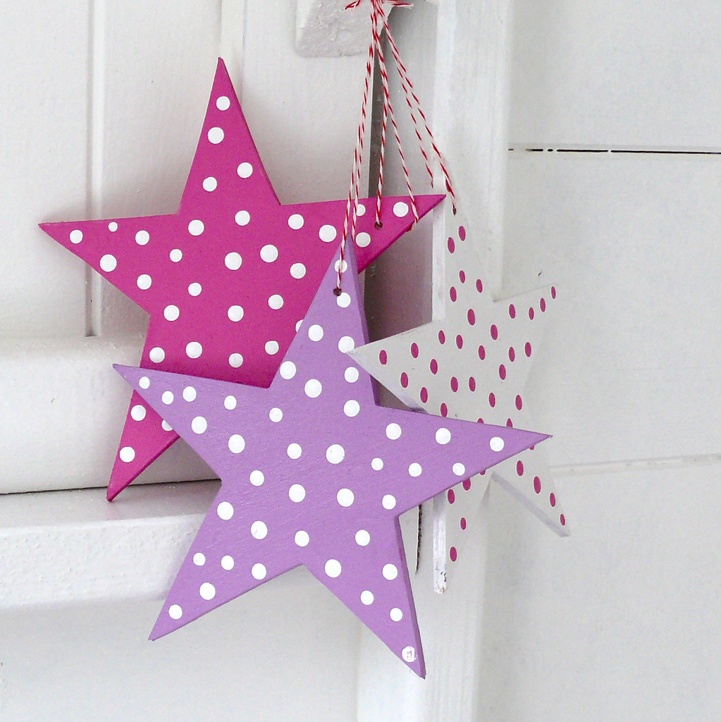Pink christmas star decorations the bunny maker flickr for Pink christmas decorations
