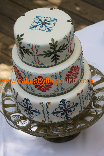 Mexican tile wedding cake | This wedding cake was designed a ...