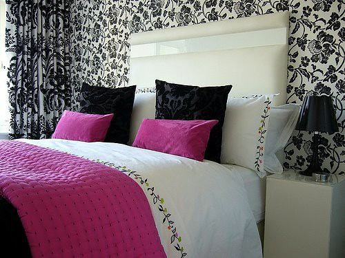 Pink and black bedroom post on brunch at saks photos for Bedroom designs pink and black